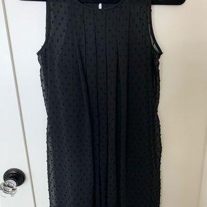 Sam Edelman Sheer Dot Sleeveless Dress